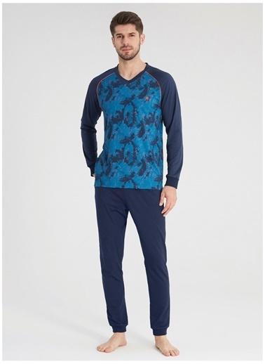 Blackspade Pijama Takım Mavi